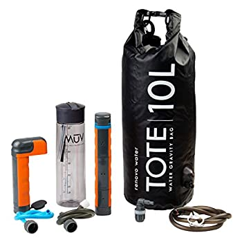 Renovo Water MUV Eclipse Survival Water Filter System - Blocks Chemicals bacteria Viruses and More - The Ultimate Survival Water Filter For Outdoors and Camping