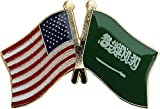 Pins brooches Accessories Buttons for Clothes USA American Saudi Arabia Friendship Flag Bike Motorcycle Hat Cap Lapel Pin