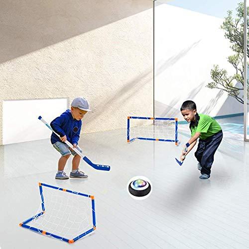 MezoJaoie E-Hockey LED-Federung Sport-Hockey-Spiel-Set, E-Hockey-Hover-Hockey-Set für Jungen-Mädchen-Sportspielzeug