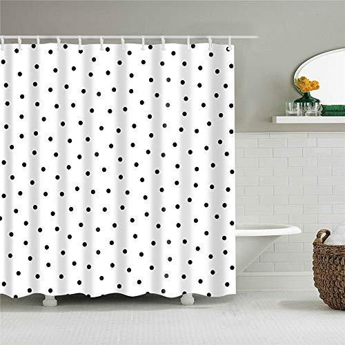 XCBN Decoración del hogar Rayas geométricas Cortinas de Ducha de baño de Onda Cortinas de baño de Tela Impermeable para baño con Ganchos A33 150x200cm