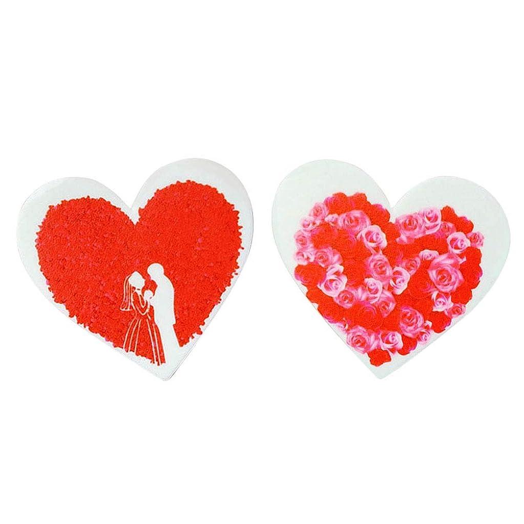 バナナ打ち負かすアトム2本入りウェディングケーキトッピングフォンダンケーキカップケーキデコレーションハート型トッパー バレンタインの飾り