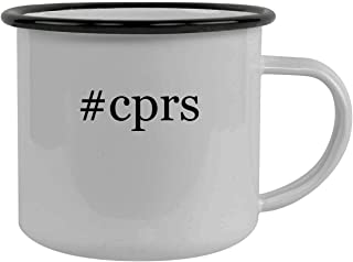 #cprs - Stainless Steel Hashtag 12oz Camping Mug, Black