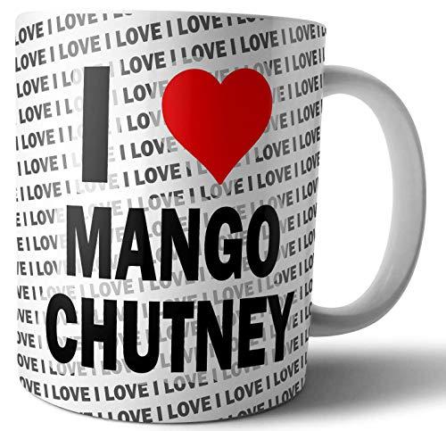 Ik hou van Mango Chutney - Thee - Koffie - Mok - Beker - Verjaardag - Kerstmis - Gift