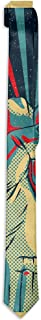 WONDERMAKE Men's Fashion Novelty Causal Costume Accessory Rock N Roll Tie Necktie Skinny Necktie for Wedding Dinner Party