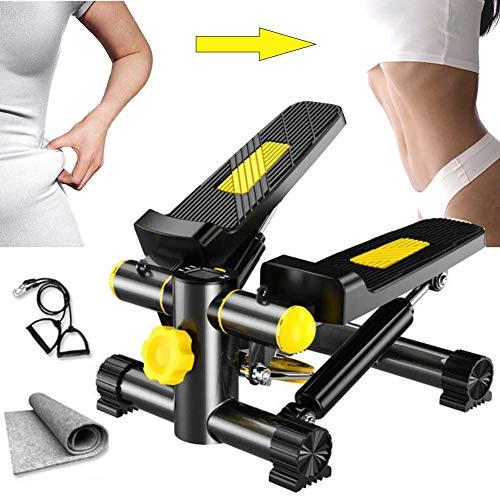 M-TOP Elliptische Fahrrad Stepper Fitness Equipment Leg Trainer mit Power Ropes, Multifunktions Up-Down-Stepper Erhindert Bein Schwellungen, Krampfadern, Thrombose,B