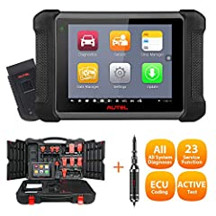 👍【23 SERVICES & ECU CODING, 2020 Newest】MS906BT diagnostic scan tool supports ECU Coding, Adaptation, Matching, IMMO (Key Coding), Auto VIN, 23+ servicet functions: Oil Reset, Engine/ABS/SRS/SAS/DPF, BMS Reset, Brake Reset, Key Fob Coding, fully meet...