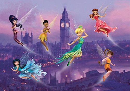 1art1 Disney Fairies - Tinkerbell, Emily, Vidia Und Feen In London Fototapete Poster-Tapete 255 x 180 cm
