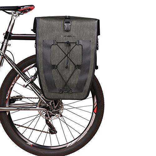 CYCI fietstas waterdichte fietstas met verstelbare haken, draaghandvat, reflecterende bekleding en grote zakken voor fietsen