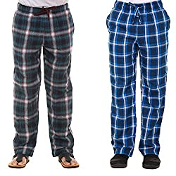 Twist Mens Cotton Comfort Night Western Global Desi Wear Checked Pyjama Pants