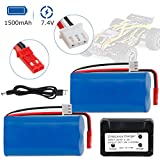 Rechargeable Li-ion Battery 7.4V 1500mAh Universal JST Plug for HUANQI 957 948 MJX T10 T11 T34RC FT007 RC Car Helicopter Boat Series