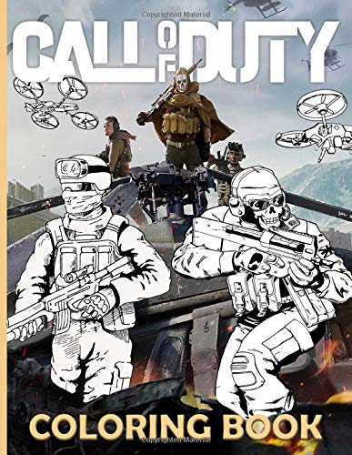 Call Of Duty Coloring Book: Special Call Of Duty Coloring Books For Kids And Adults Designed To Relax And Calm