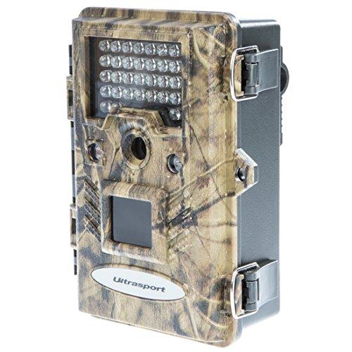 Ultrasport UmovE Secure Guard Ready, videocamera di sorveglianza/mimetica, videocamera da esterni con sensore di movimento, READY incl. batterie e scheda di memoria SD 16 GB – Spy cam con risoluzione Full HD