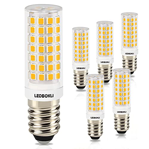 LEDBOKLI Bombilla LED E14 8W, Bombillas Halógenas Equivalentes de 80W, 700LM 88LEDs, Blanco Cálido 3000K, 220-240V, ángulo 360, No Regulable, Sin Parpadeo, Tornillo Edison E14 LED Bombillas, 6 Piezas