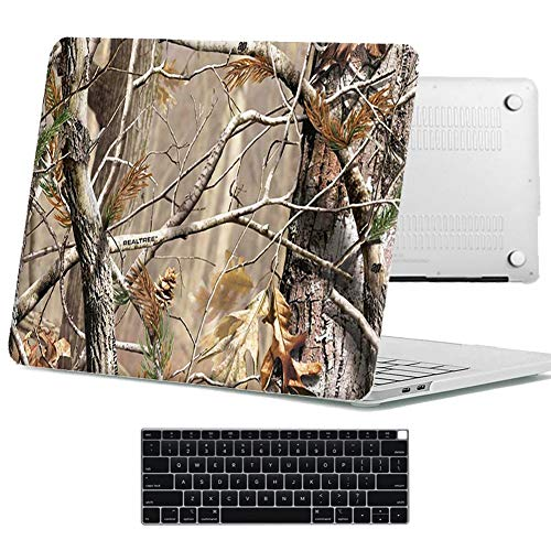Bizcustom Painting Case for MacBook Air 13 Inch 2019 2018 with Retina Display Touch ID Model A1932 Hard Rubberized Customize Design Shell and Keyboard Cover (Jungle)
