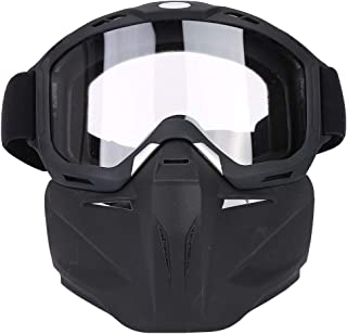 Da Dini Casco De Motocicleta Gafas De Montar A Caballo Mascarilla Extraíble Outdoor Gafas De Sol A Prueba De Viento Ciclismo Montar Motocross Gafas (Transparentes)