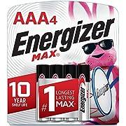 Energizer Max Pilas Alcalinas AAA, Pack de 4, el embalaje puede variar