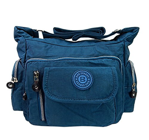 WILD THINGS ONLY !!! Bag Street Umhängetasche Bodybag Nylon, ohne, 30x22x15cm, Blau