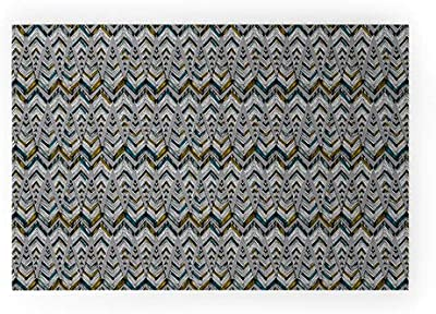 """Society6 Pattern State Pyramid Line North Welcome Mat, 30"""" x 20"""", Green"""