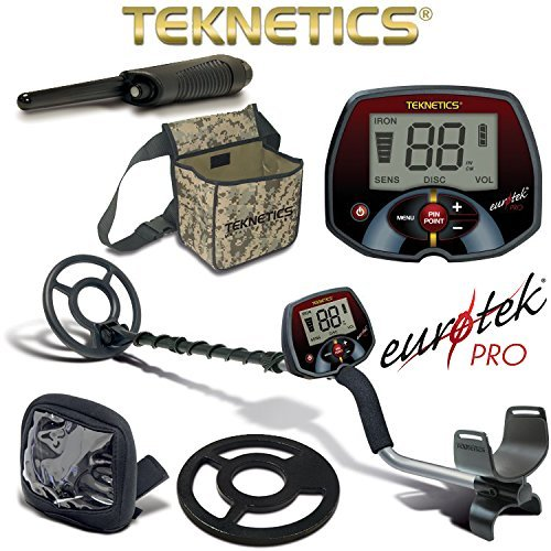 Teknetics Eurotek Pro Metal Detector with Coil Cover Rain Cover...