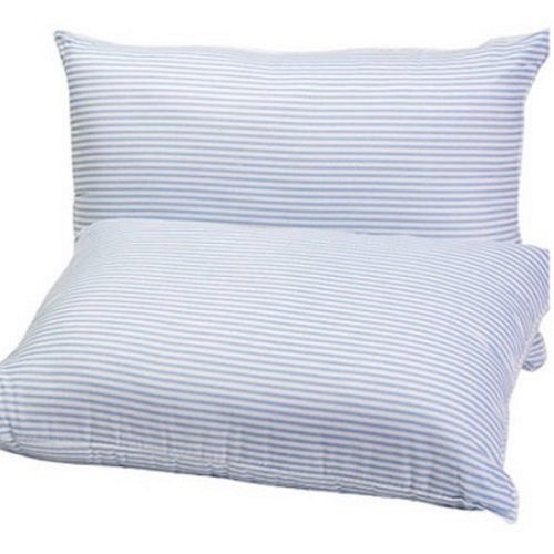 mainstays pillow side sleepers Mainstays Huge Pillows Set of 2 in Blue and White Stripe 20