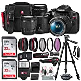 Canon T7 EOS Rebel DSLR Camera with 18-55mm and 75-300mm Lenses Kit + UV Filter...