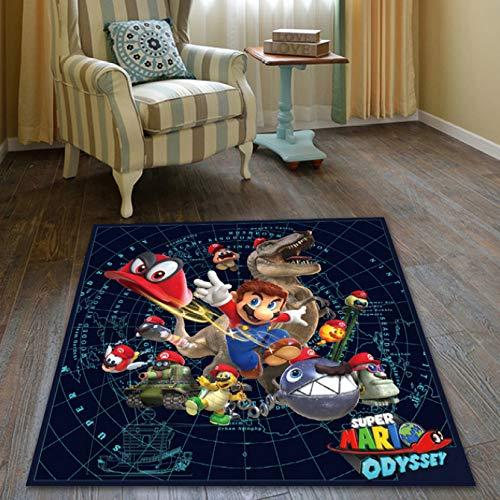 Teppich Kinder Wohnzimmer Cartoon Super Mario 3D Muster Wohnzimmer Schlafzimmer Zimmer Nachtbett Couchtisch Hängen Korb Computer Stuhl Teppiche