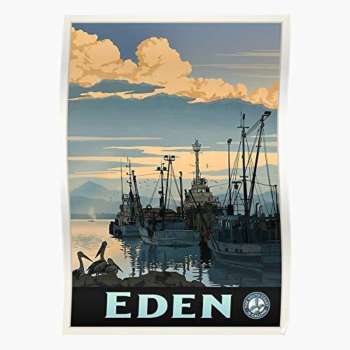 Eden Boat Pope Calling Tug Nsw Fishing Is Australian Harbour David South Bushfires Coast Home Decor Wall Art Print Poster ! Home Decor Wall Art Print Poster !