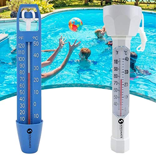 Large Floating Pool Thermometer Easy Read Display with Cord