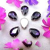 Colorato 7 dimensioni in vetro Crystal Silver griffe vari colori mischiano goccia d'acqua goccia d'acqua cucirla su perle di strass