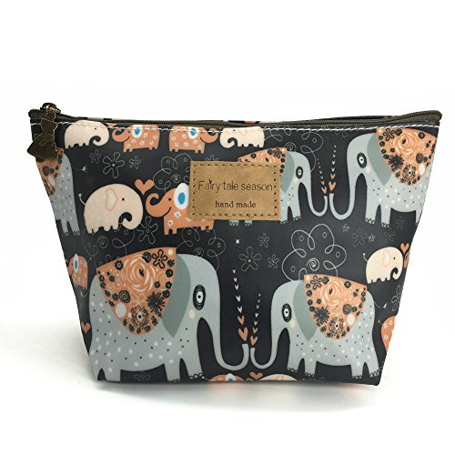 HUNGER Kiss Elephant Print Make-Up Cosmetic Bag Carry Case, 14 Patterns (P11417011)