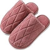 YCDZ Zapatillas De Algodón para Mujer, Otoño E Invierno, Suelas Gruesas, Lindas Parejas Domésticas, Zapatos De Algodón De Felpa para Que Los Hombres Se Mantengan Calientes (Vino Rojo,44-45)