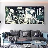 Impresión en lienzo Picasso Guernica Pinturas de arte famosas Impresiones de arte Reproducciones de ...