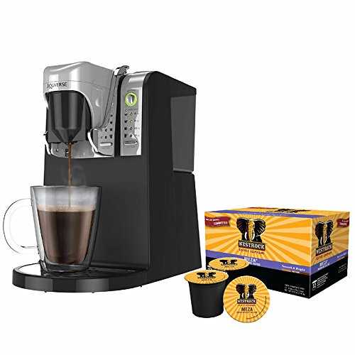 Single Serve Coffee Brewer Commercial UL Certified, Compatible with ALL varieties of single serve K-Cups, 6, 8, 10 and 12oz Cup Sizes, Includes Westrock 12 K-Cups