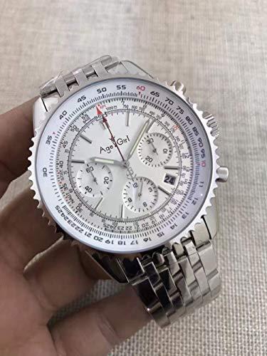 PLKNVT Luxusmarke Neue Männer Automatische Mechanische Chronometer Stoppuhr Schwarz Blau Leder Datum Edelstahl Saphir Uhren1