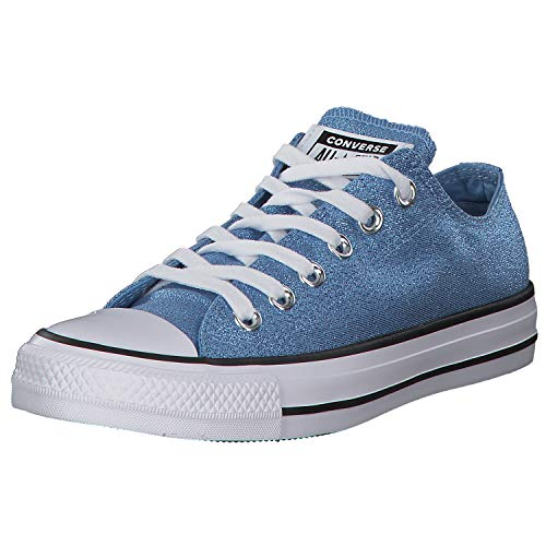 Converse Damen Chuck Taylor All Star OX Sneaker, Blau (Hellblau/Weiß Hellblau/Weiß), 38 EU