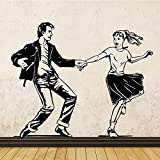 yaonuli Pegatinas de Pared de bailarín Latino para la decoración del hogar Sala de Clases de Baile Latino Accesorios de decoración de Pared de Baile 99x163 cm