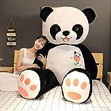 Anyinghh 60-100cm Lindo Panda Gigante muñeca de Peluche de Juguete 2 Metros Gran Abrazo Oso muñeca Ragdoll Regalo de cumpleaños para niñas 60 cm de pie muñeca Panda Gigante