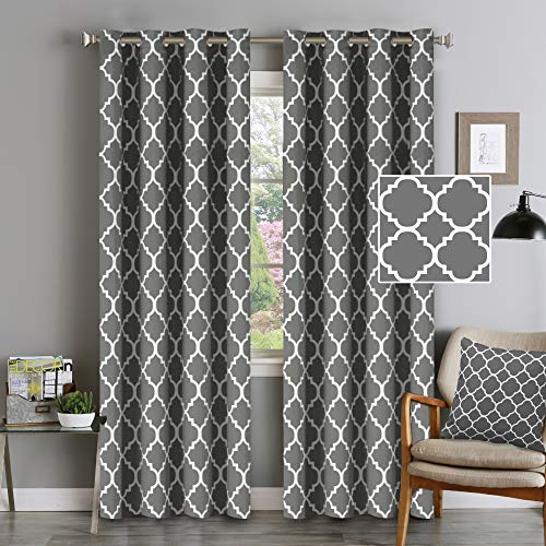 Blackout Curtains Energy Smart & Noise Blocking Out Blackout Drapes for Dining Room Window Kids Curtains 96 inches Long for Kids...