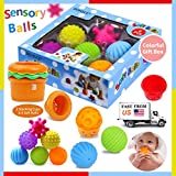 Sensory Balls for Kids, Textured Multi Ball Set for Babies & Toddlers, 6 Colorful Soft and Squeezy Sensory Toys with Stacking Cups - Stress Relief Toy for Kids & Sensory Balls for Toddlers