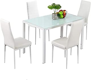 Bonnlo Dining Table with Chairs Dining Set for 4 Kitchen...