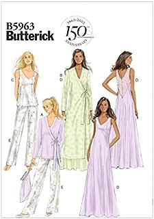 Butterick Ladies Easy Sewing Pattern 5963 Dressing Gown, Pyjamas & Sleepwear