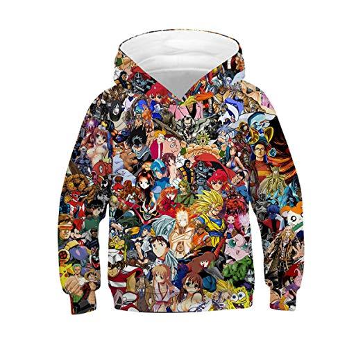 XEYE Anime Hoodie Hoodies for Boys and Girls