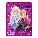 Disney Frozen, 'Loving Sisters' Micro Raschel Throw Blanket, 46' x 60', Multi Color, 1 Count