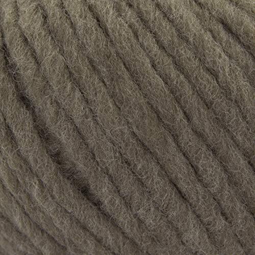 ggh Husky, Farbe:045 - Torfbraun, Schurwolle Mischung, 50g Wolle als Knäuel, Lauflänge ca.50m, Verbrauch 800g, Nadelstärke 7-9, Wolle zum Stricken und Häkeln