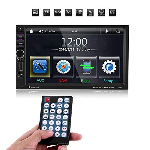 Qiiliu 7inch HD Touch Screen Bluetooth Auto MP5 Spieler Stereolithographie FM Radio GPS USB AUX Fernsteuerungs