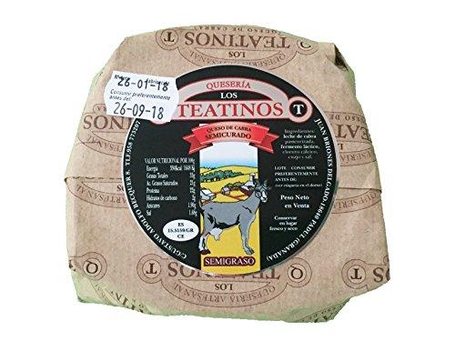 Queso de cabra artesanal sabor intenso y delicioso. Quesería Artesanal los teantinos. (varios formatos) Envió GRATIS 24 h . (Semicurado, 500gr aprox.)