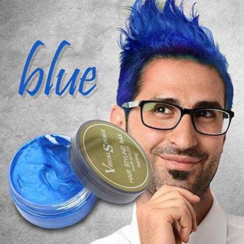 Hair Wax, SOMESUN Capelli di cera dei capelli Donne Capelli di nonna Capelli di frassino Fango grigio Temporaneo 80g (blue)