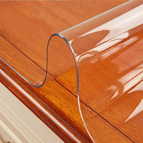 KDDEON Nappe Transparente À Bordure Biseautée 68 °,Film de Protection de Table en PVC,Nappe Imperméable/Anti-Brûlure de Table Basse,Protège-Tapis Plaque de Cristal (85x200cm/33x79in)