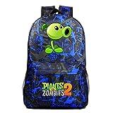 Nanlada Boys Girls Plants vs. Zombies Waterproof Backpack School Bookbag-Canvas Travel Bag School Backpack for Kids
