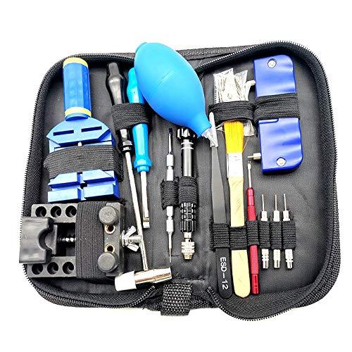 xiaoxioaguo Herramientas de reparación de reloj Kit de herramientas de movimiento Caja de sacacorchos Piezas de reparación de herramientas